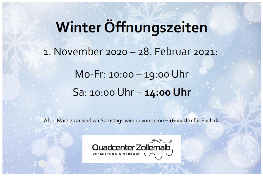 Winter Öffnungszeiten